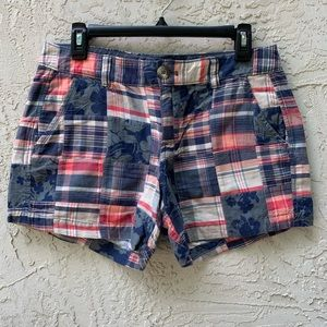 Plaid Patch Shorts from Old Navy